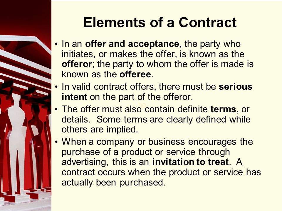 90 Performance & Agreement The most common way to discharge a contract is through performance.