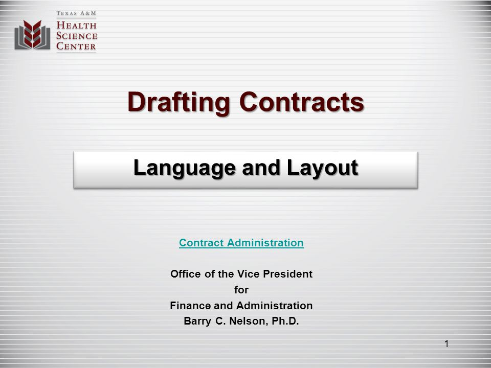 Whats the current state of contract drafting? 2