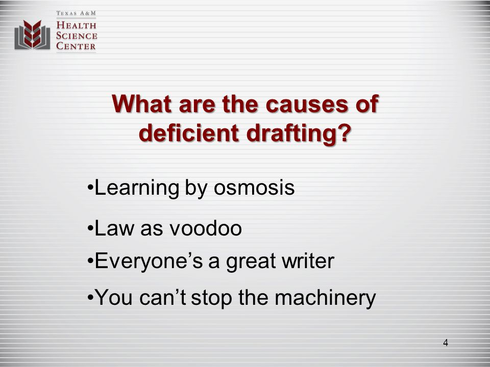 Whats the difference between good drafting and deficient drafting.