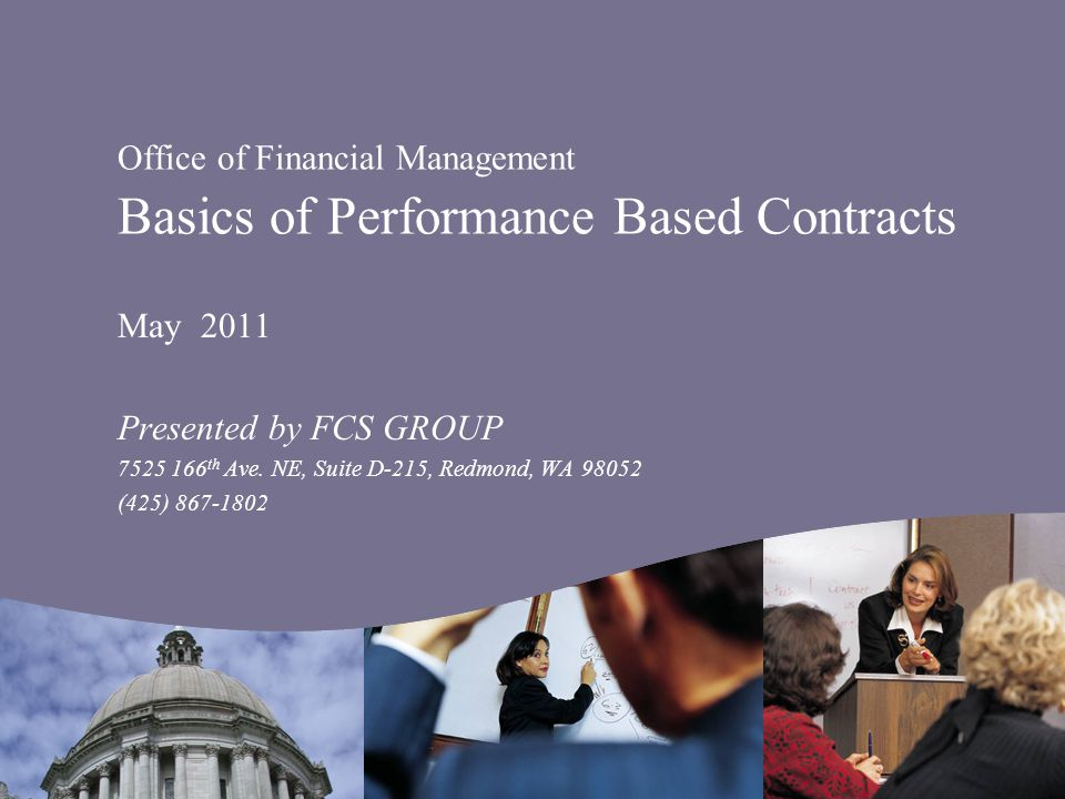 Introduction Why use performance based contracting.