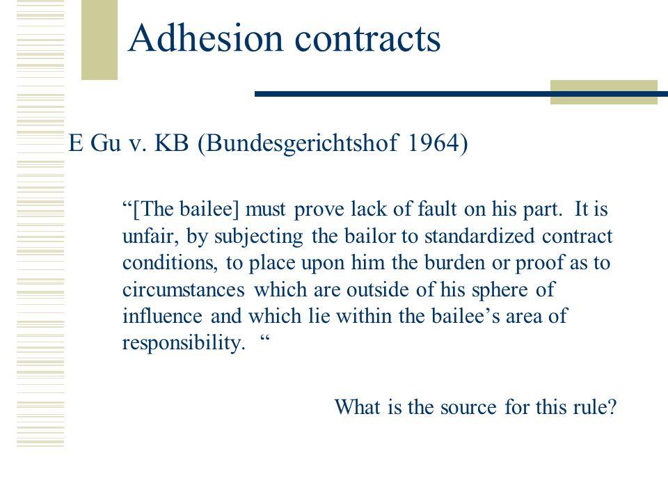 Adhesion contracts E Gu v.