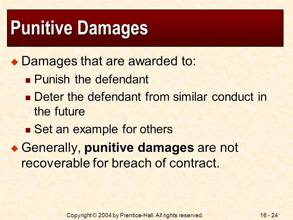16 - 24Copyright © 2004 by Prentice-Hall. All rights reserved.
