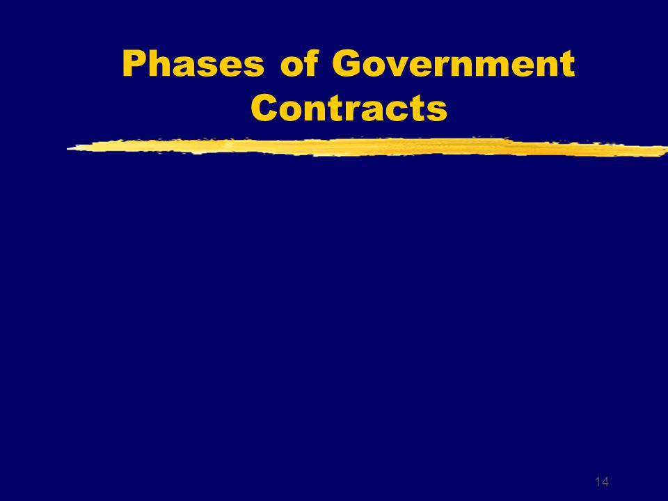14 Phases of Government Contracts
