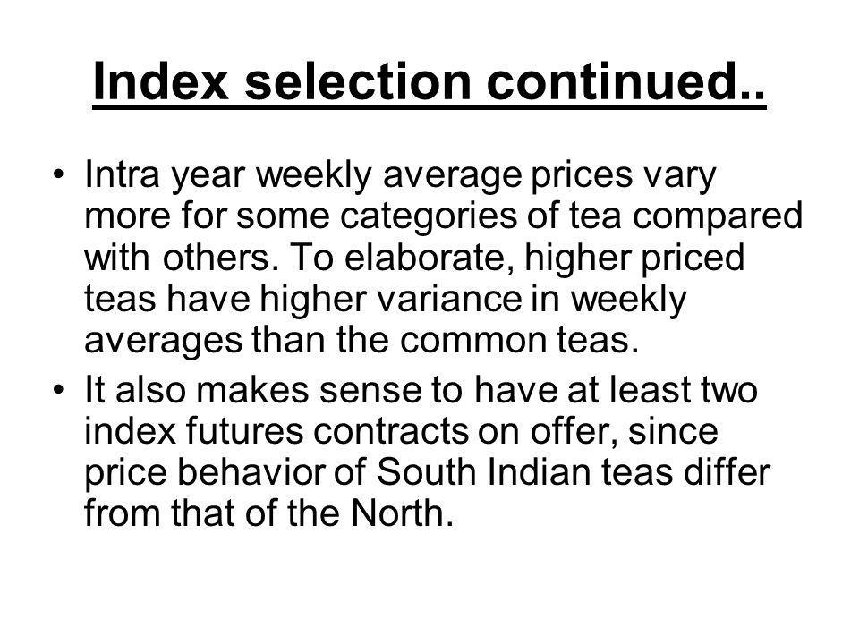 Index selection continued..