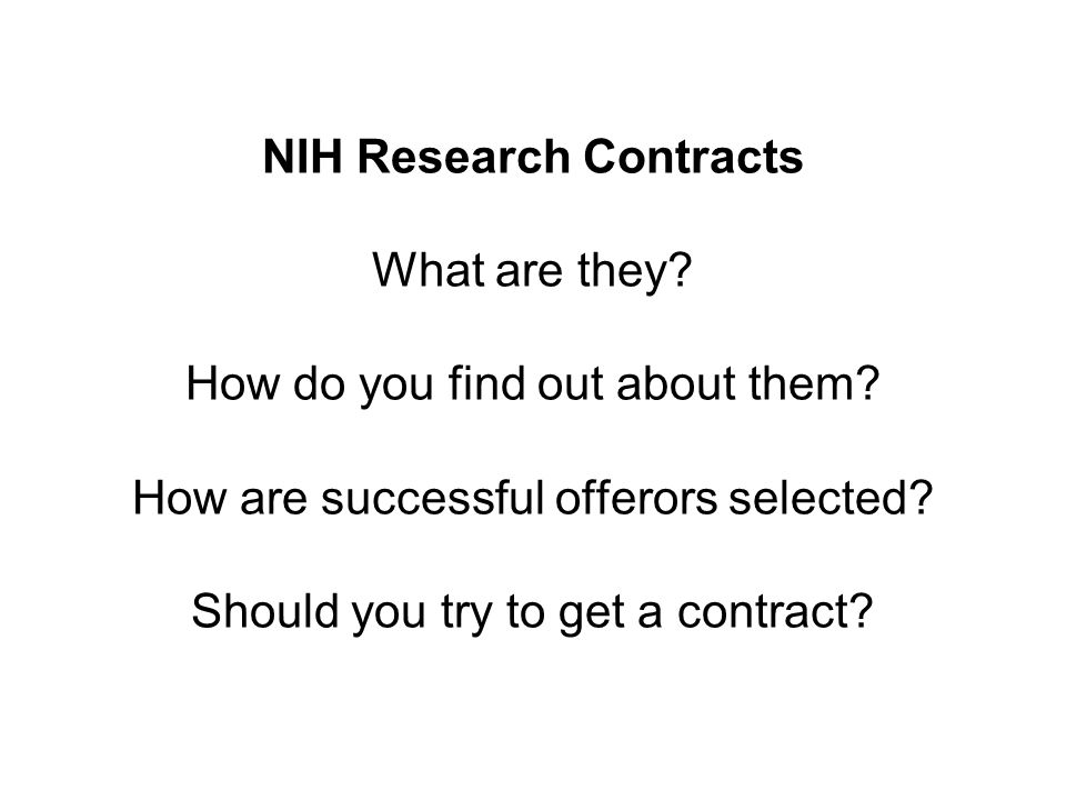 How Do I Find Out About Contracts.