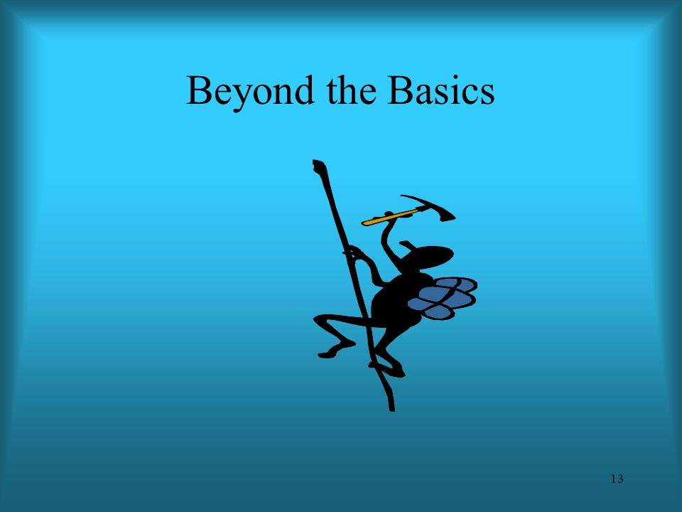 13 Beyond the Basics