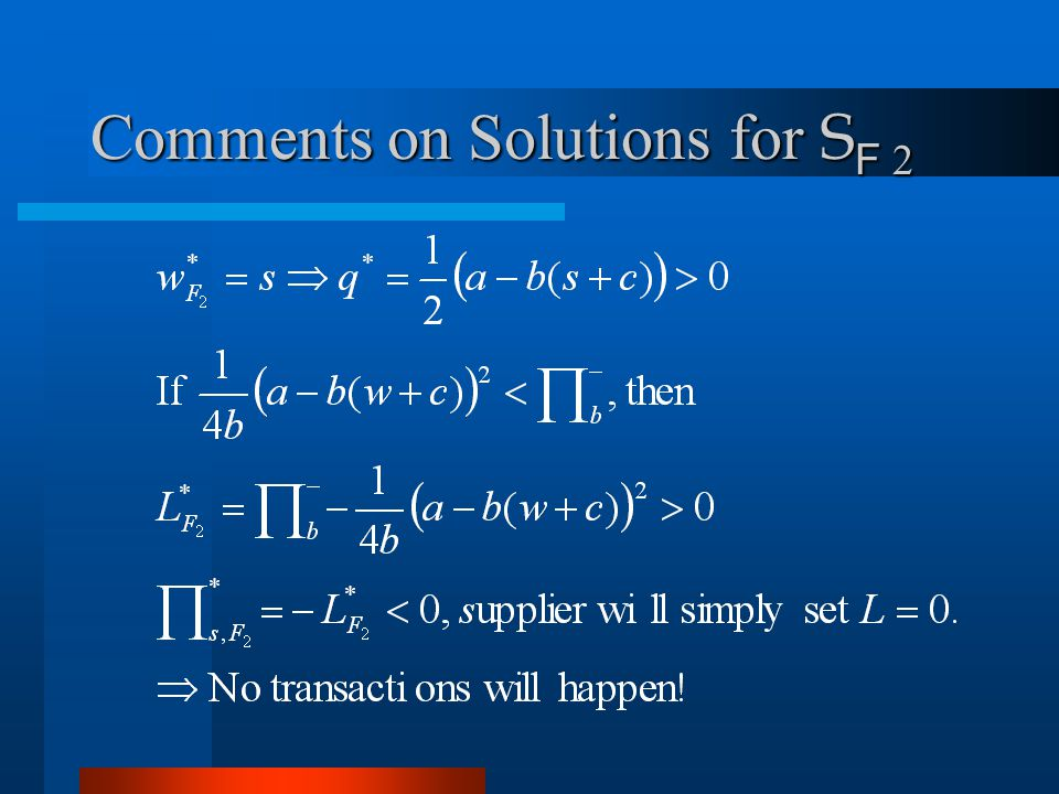 Comments on Solutions for S F 2