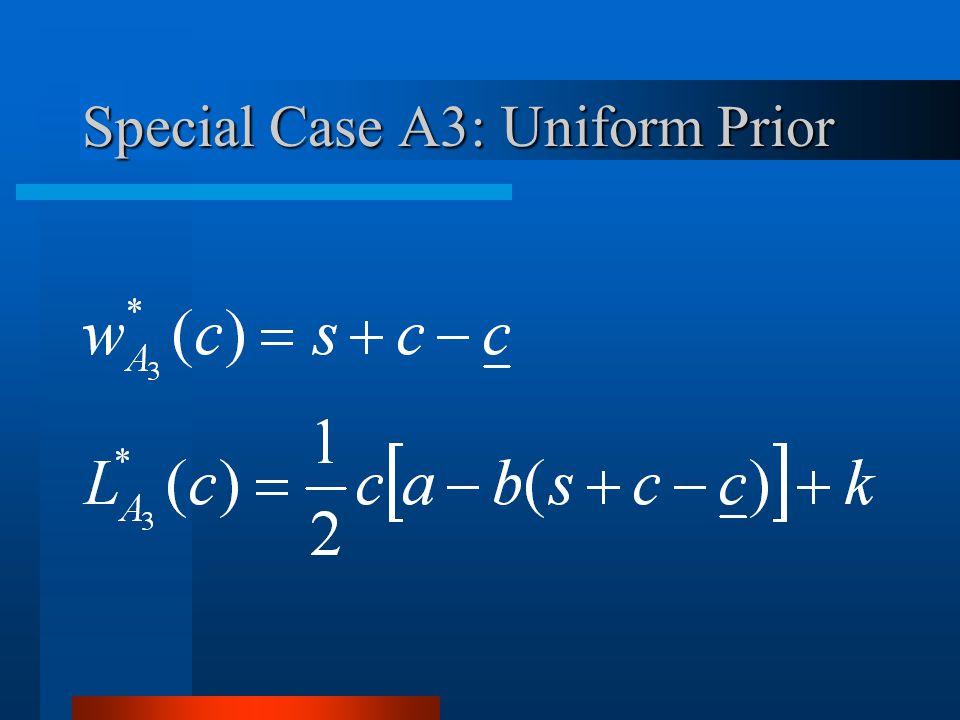 Special Case A3: Uniform Prior