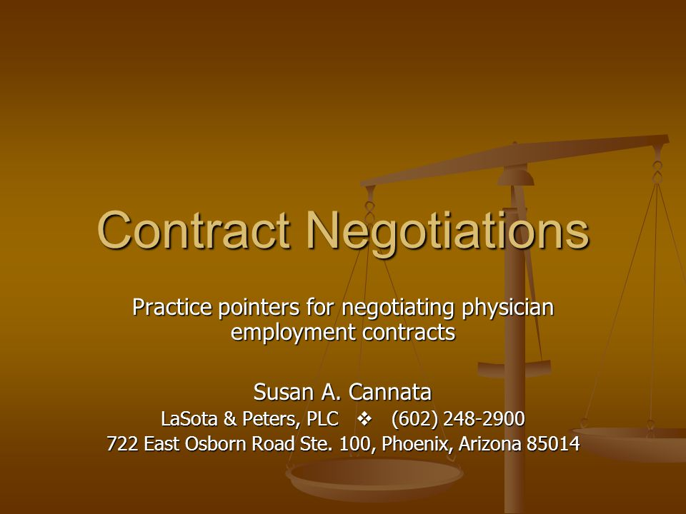 Overview Parties Parties Term Term Physicians Duties Physicians Duties Employers Duties Employers Duties Compensation Compensation Benefits Benefits Restrictive Covenants Restrictive Covenants Termination Termination Other Provisions Other Provisions