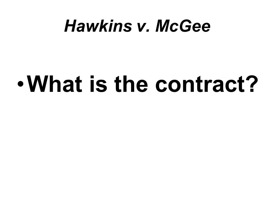 What is the contract