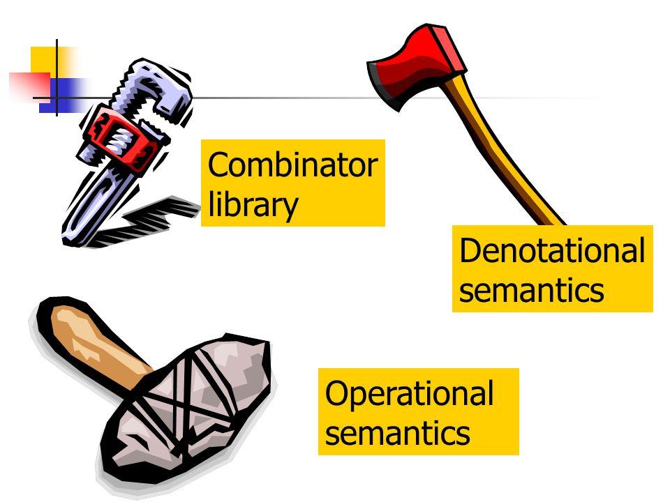 Combinator library Denotational semantics Operational semantics