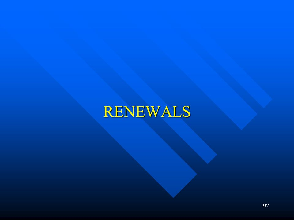97 RENEWALS