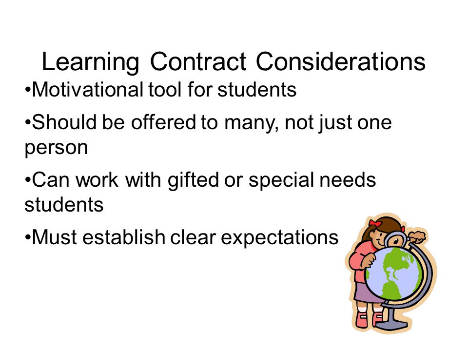 Learning Contract Agreement Between Teacher And Student(S) Certain