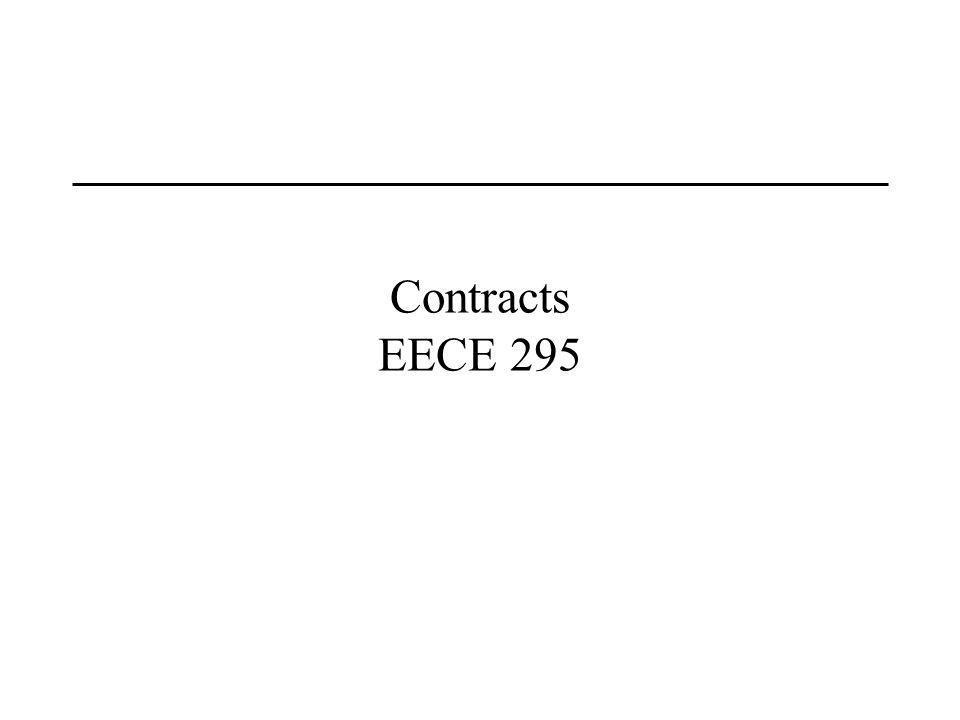 Contracts EECE 295