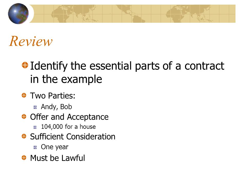 Review Is the example we looked at an expressed or implied contract WHY