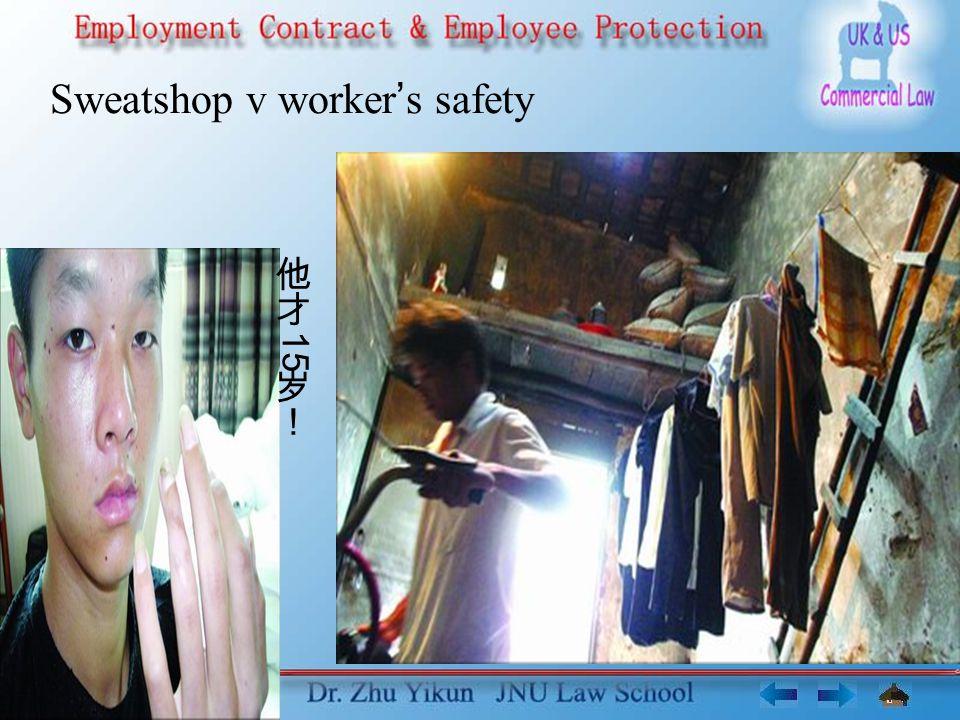 Sweatshop v worker s safety