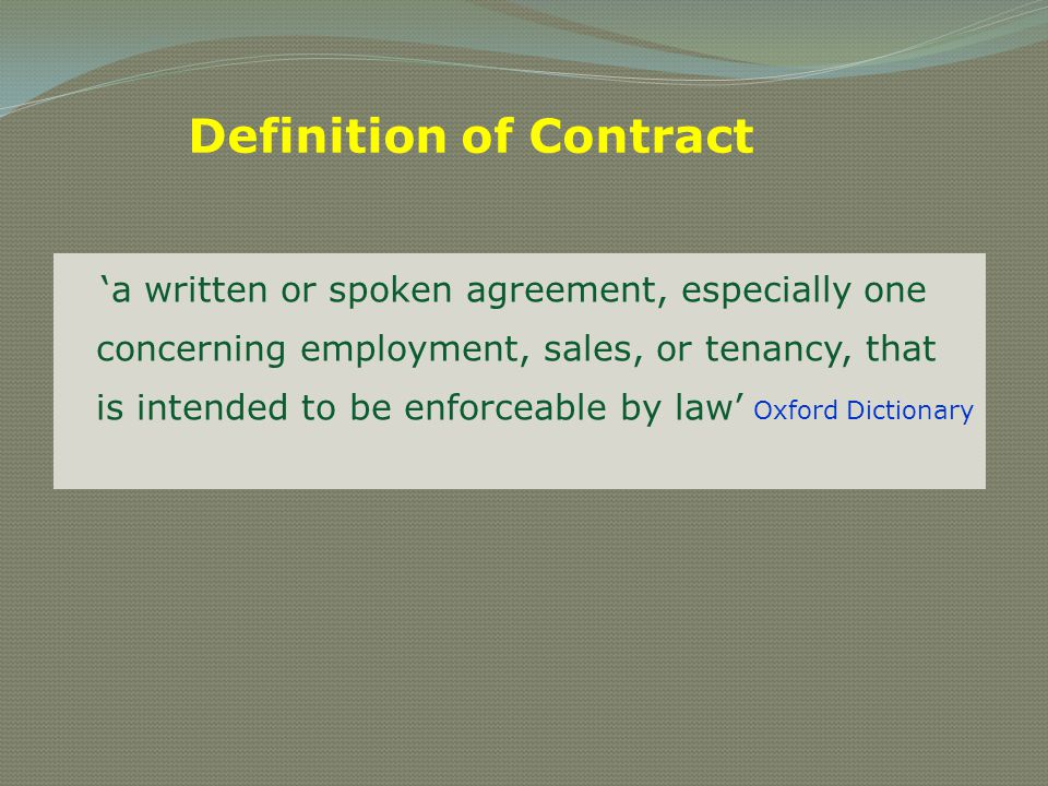 Lawful object The object of the agreement must be lawful In other words, it means that the object must not be; o illegal o immoral o opposed to public policy