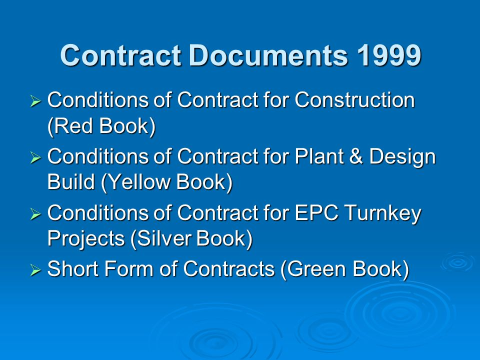 4 THE CONTRACTOR 4.1 Contractors General Obligations 4.2 Performance Security 4.3 Contractors Representative 4.4 Subcontractors 4.5 Assignment of Benefit of Subcontract 4.6 Co-operation 4.7 Setting Out 4.8 Safety Procedures 4.9 Quality Assurance 4.10 Site Data 4.11 Sufficiency of the Accepted Contract Amount 4.12 Unforeseeable Physical Conditions 4.13 Rights of Way and Facilities FIDIC conditions of contract contd