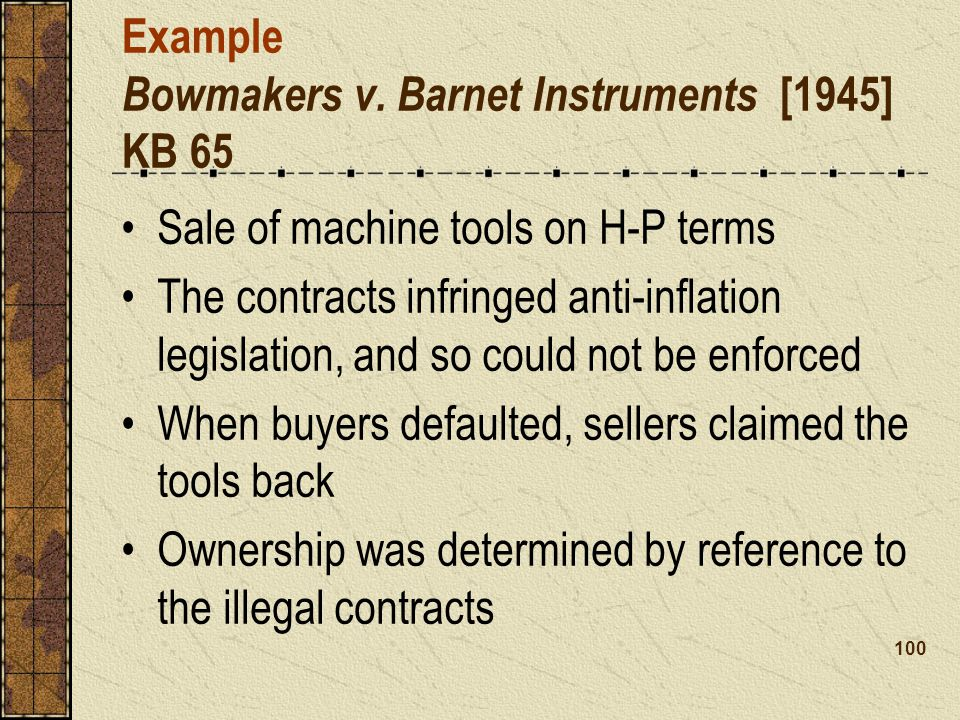 Example Bowmakers v.