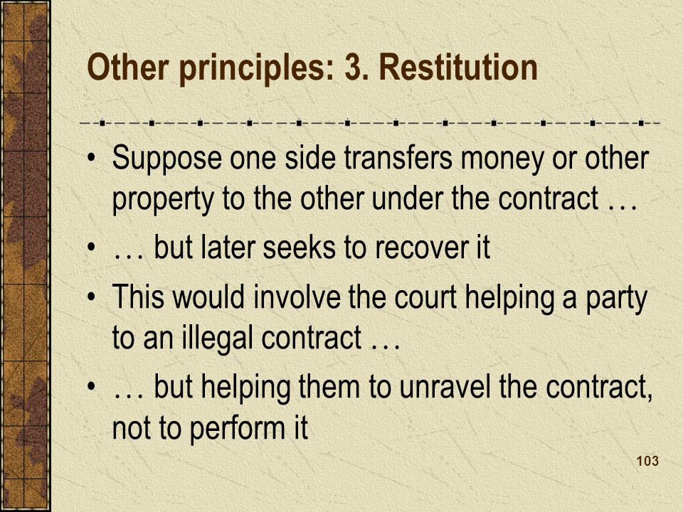 Other principles: 3.