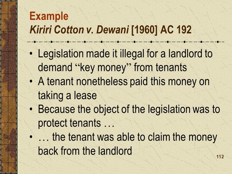 Example Kiriri Cotton v.