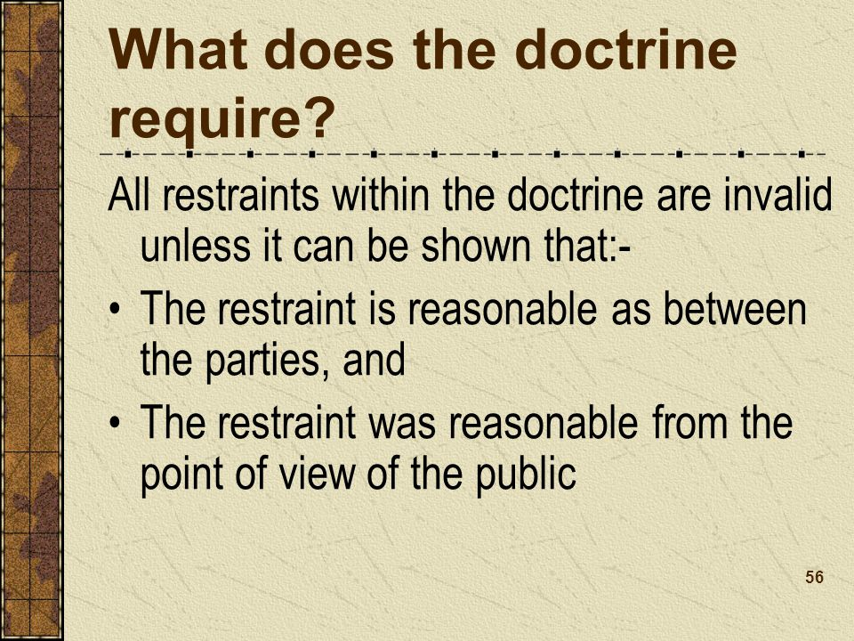 What does the doctrine require.