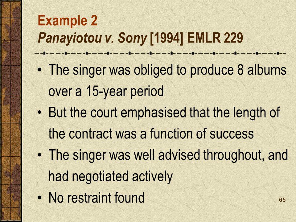 Example 2 Panayiotou v.