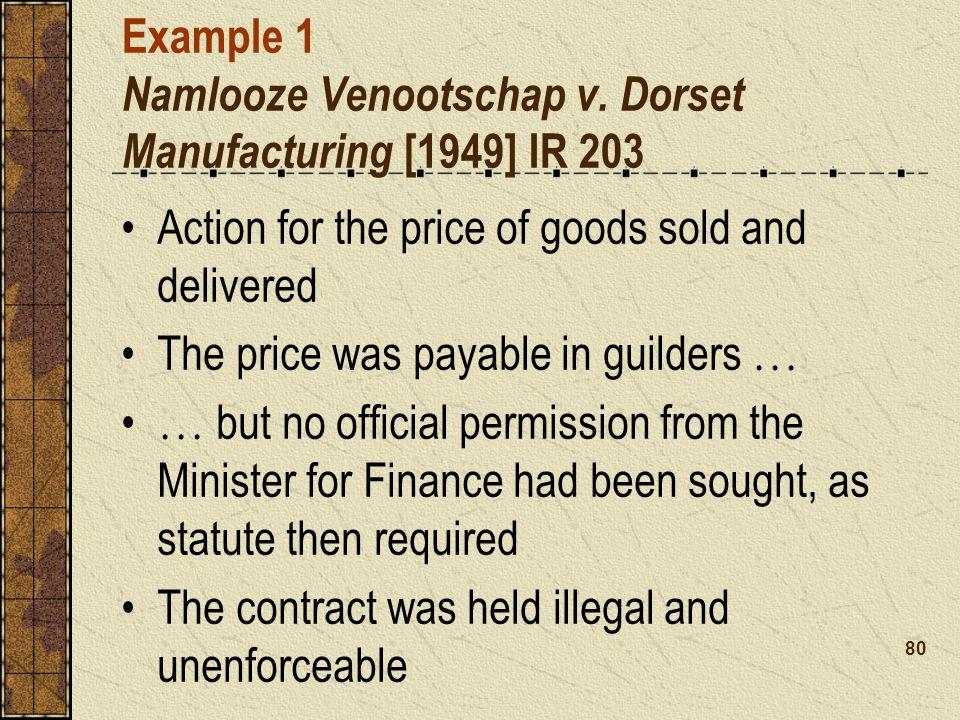 Example 1 Namlooze Venootschap v.