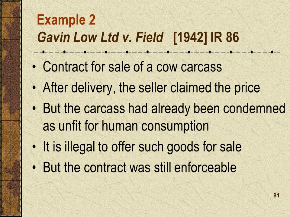 Example 2 Gavin Low Ltd v.