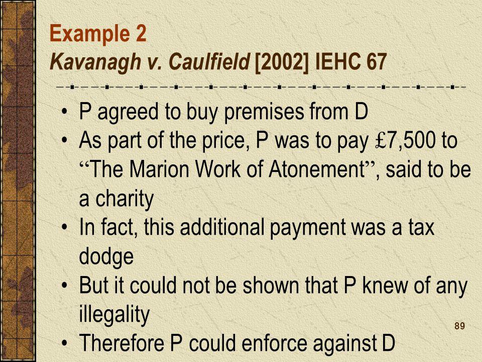 Example 2 Kavanagh v.
