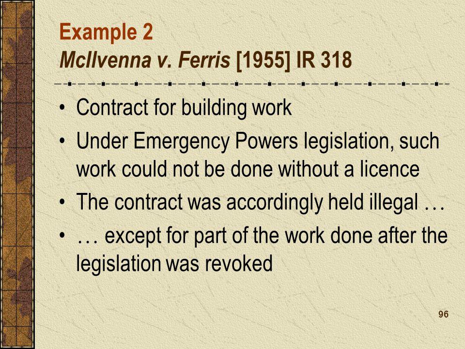 Example 2 McIlvenna v.