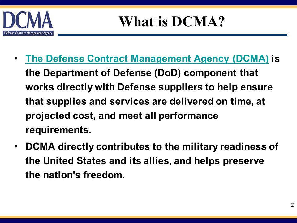 3 Award with DCMA