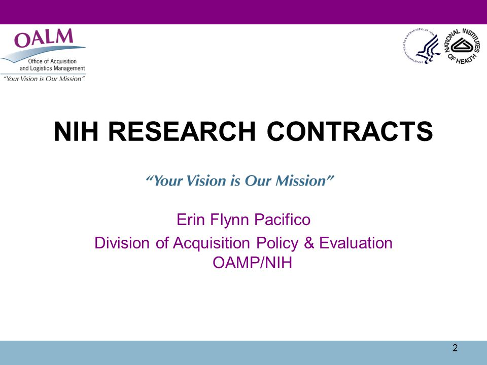 3 NIH Research Contracts What are they.How do you find out about them.