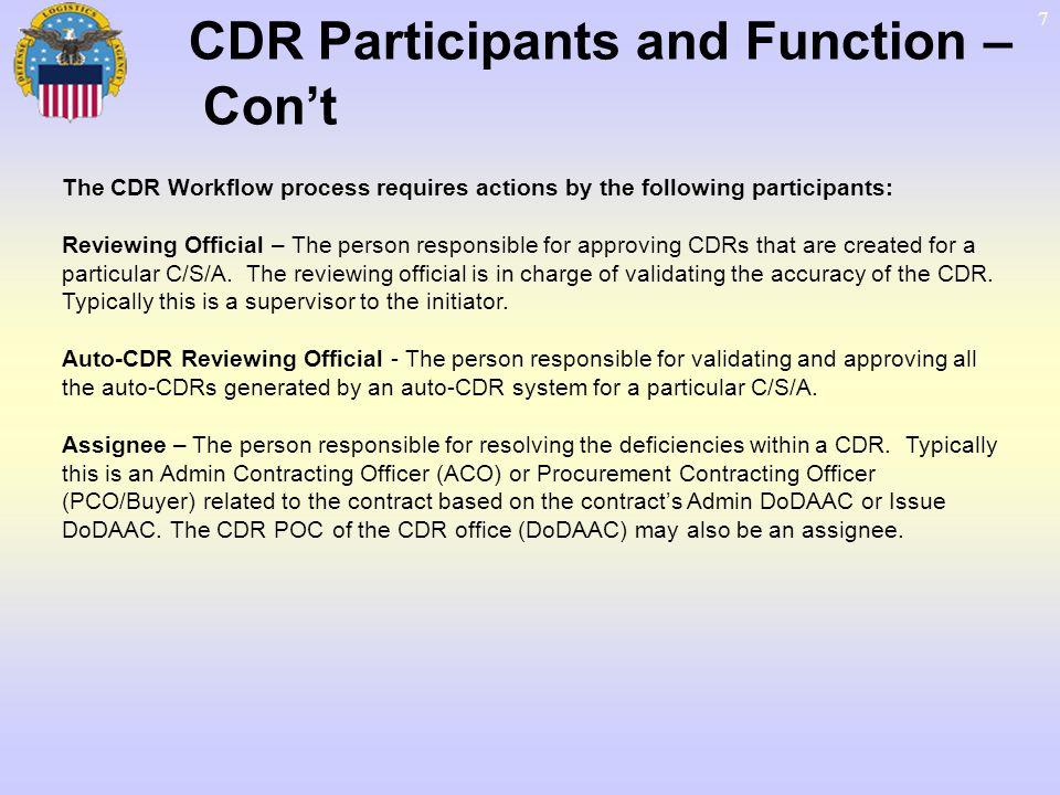 28 Create CDR – Add Deficiencies Create Contract Deficiencies… Add Deficiencies… Click Add a Deficiency