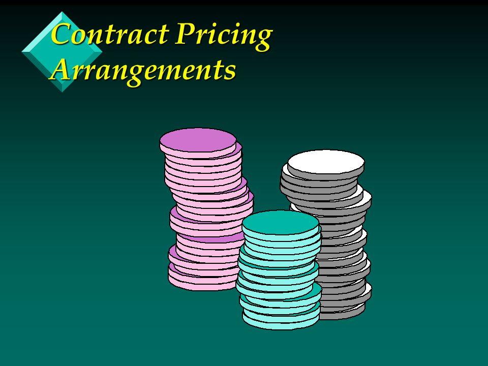 Contract Pricing Arrangements