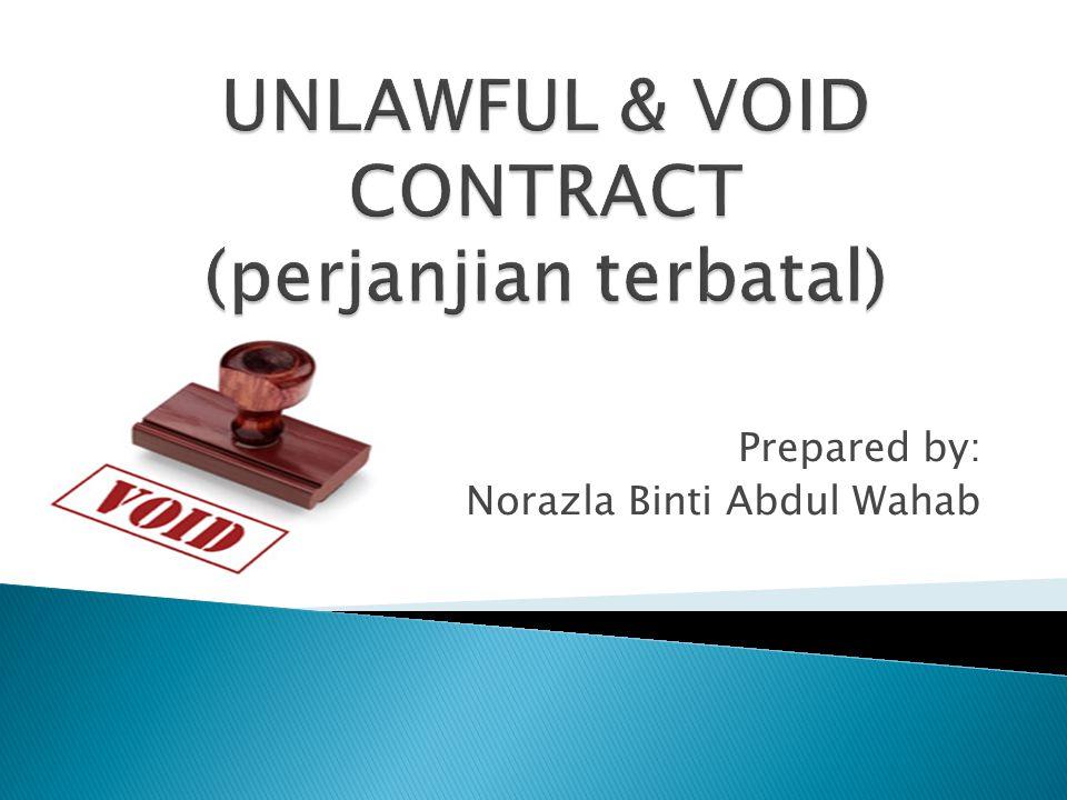 Prepared by: Norazla Binti Abdul Wahab