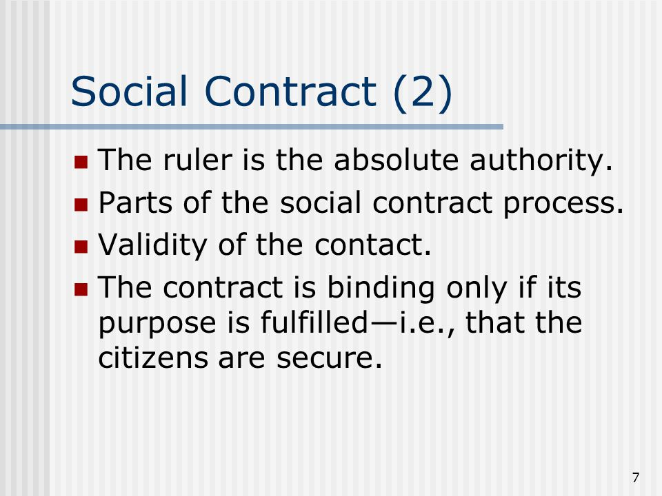 8 The Sovereign and Citizens Rights of the sovereign: Enforcement of Law Legislative power Judicial power Sovereign is not subject to the laws.