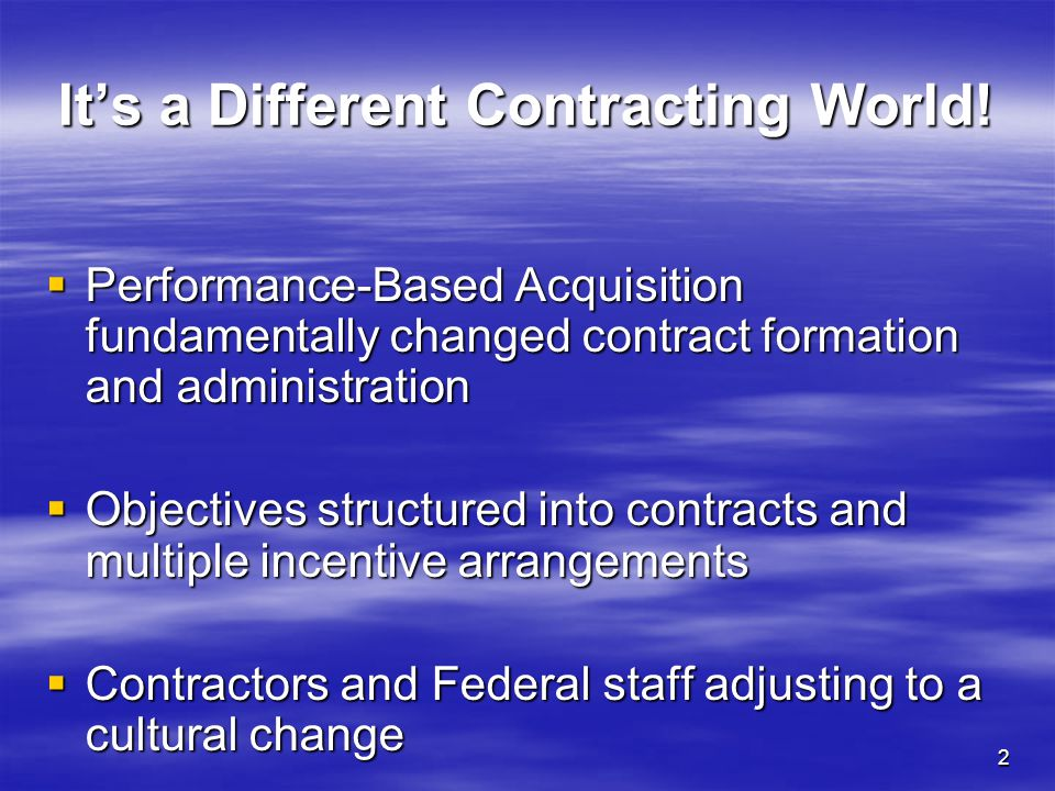3 When does Contract Management start.