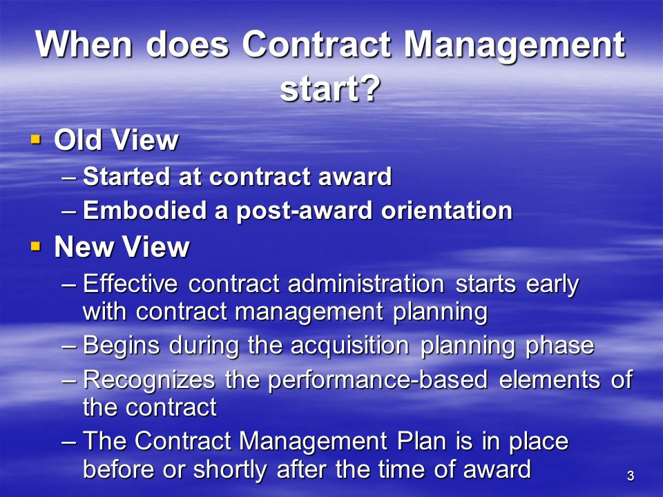 4 The Performance-Based Contract What are the elements of Performance-Based Contracting.