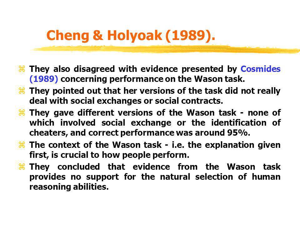 Cheng & Holyoak (1989).