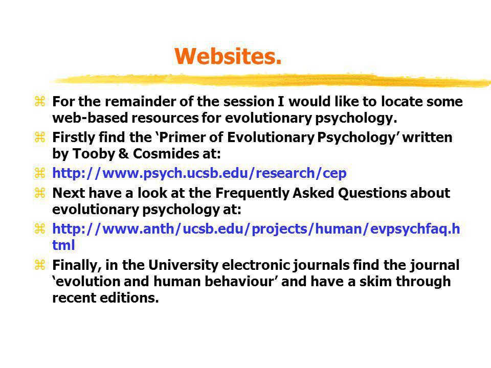 Websites.