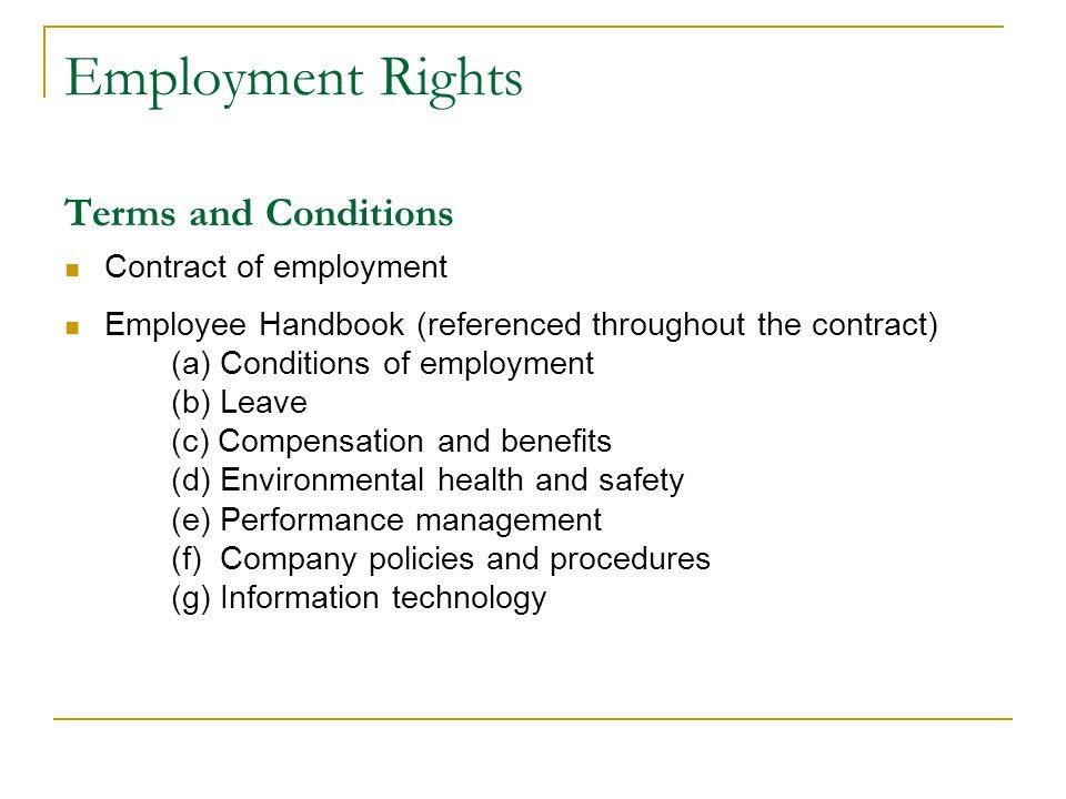 Employers Obligations Summary – NERA Ensure: 1.