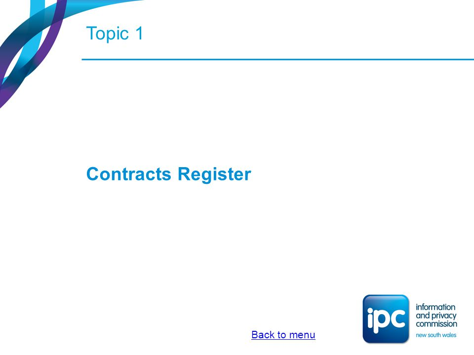 What is the contracts register.