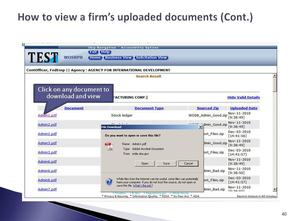 Click on any document to download and view 40