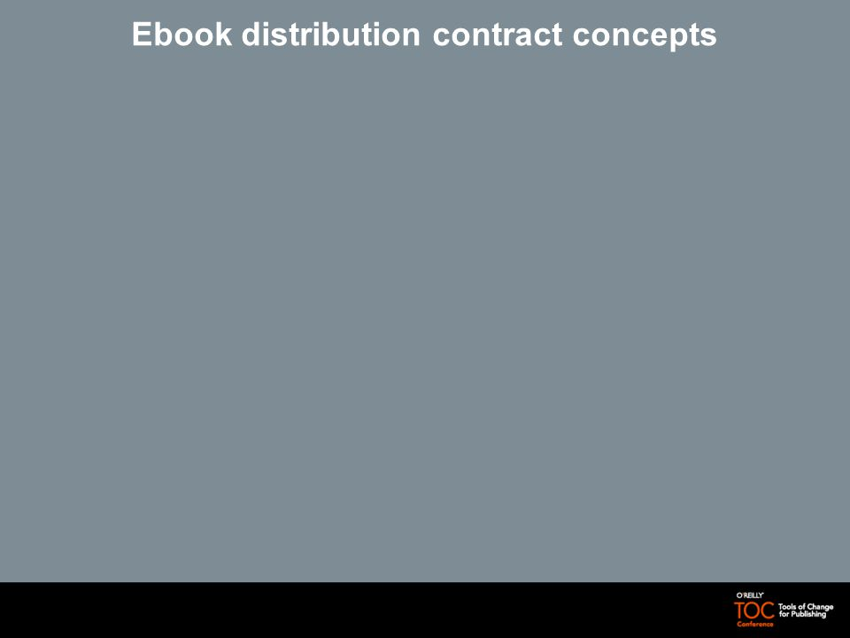 Ebook distribution contract concepts