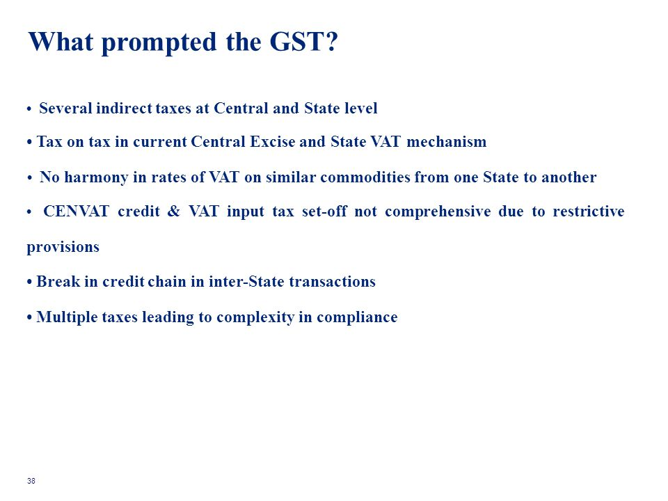 What prompted the GST.