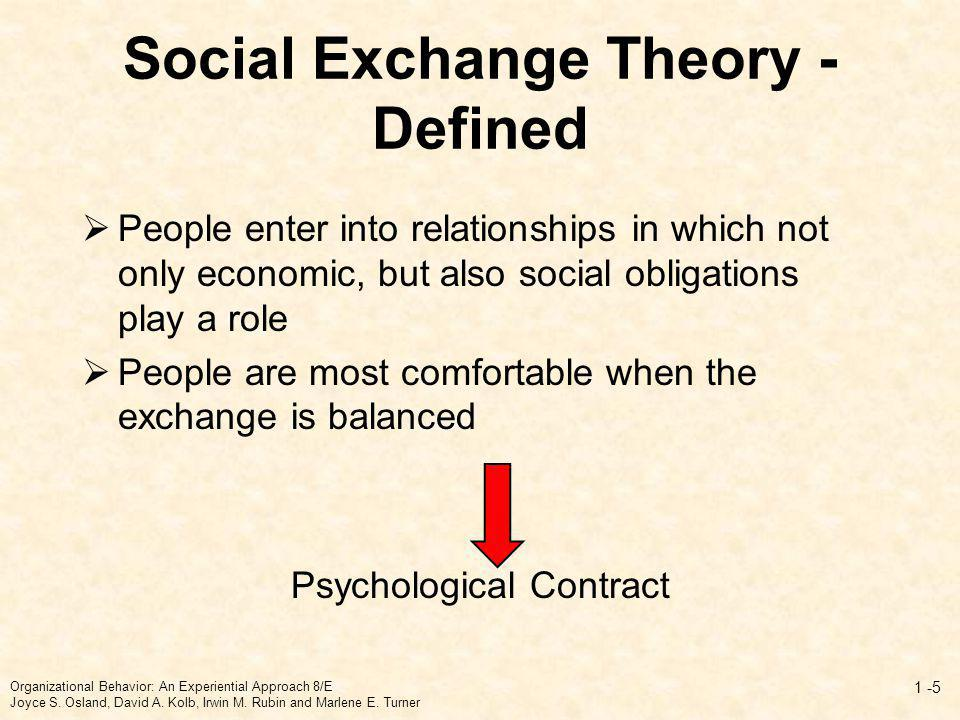 Importance of Psychological Contracts Link individuals to organizations Reflect the trust that is a fundamental feature of the employment relationship Motivate individuals to fulfill their obligations (if they believe the other party will do the same) Organizational Behavior: An Experiential Approach 8/E Joyce S.