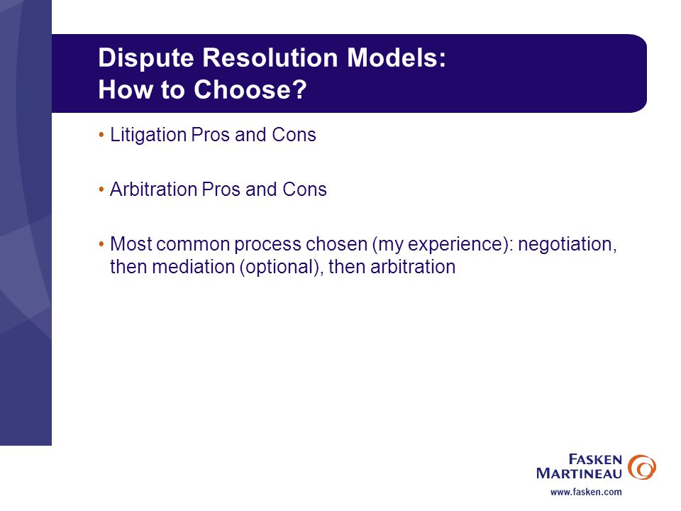 Dispute Resolution Models: How to Choose.