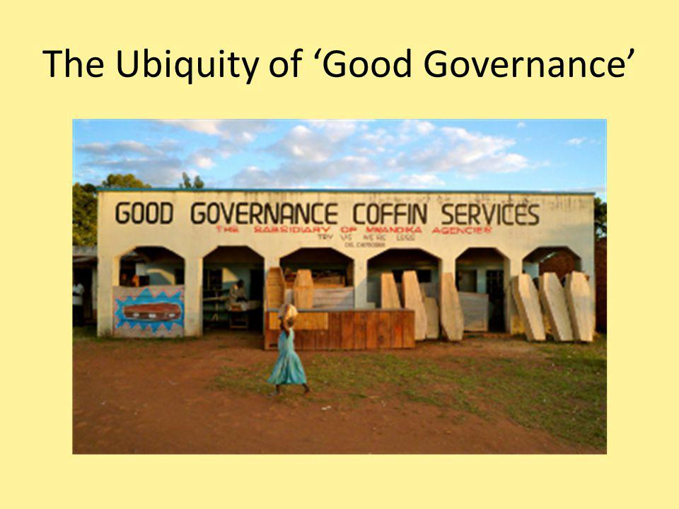 The Other Side of the Equation Governance = not simply about the choice and implementation of policies, but about political sustainability.