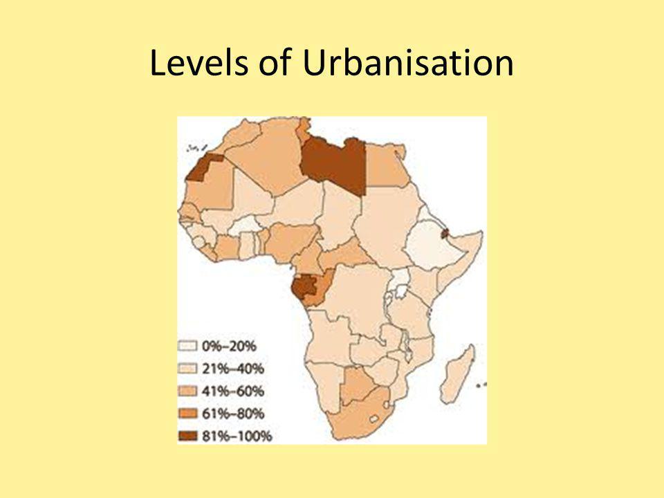 Levels of Urbanisation